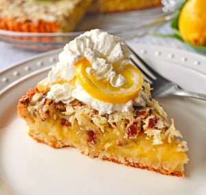 Tangy Lemon Nut Tart