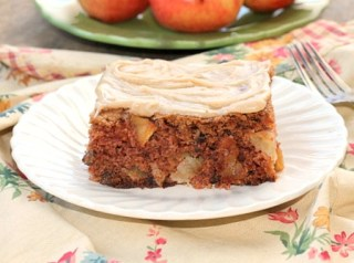 Chunky Apple Cake With Brown Butter Frosting