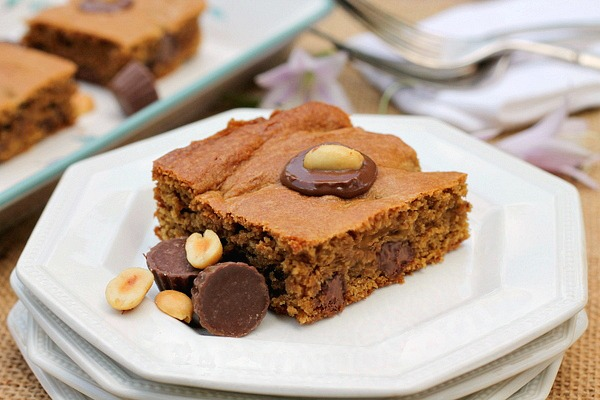 Chocolate Stuffed Peanut Butter Brownies