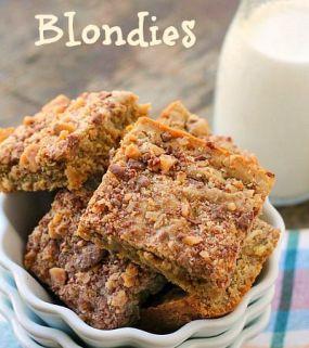 Toffee Walnut Blondies
