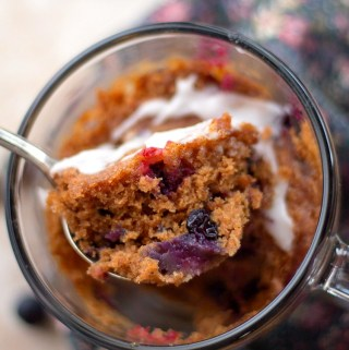 Single Serving Blueberry Mug Cake