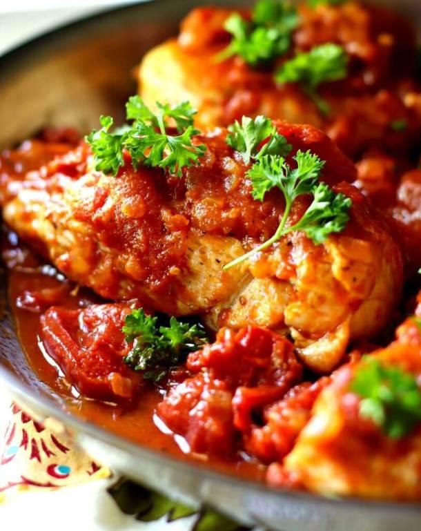 Skillet Tomato Chicken Breast Dinner