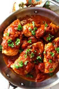 Skillet Tomato Chicken Breasts Dinner