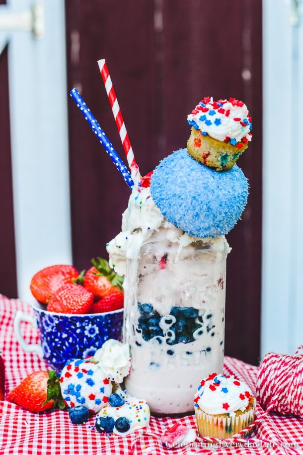How To Make The Ultimate Red White & Blue Crazy Milkshake