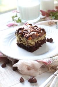 Chocolate Bottom Banana Cake