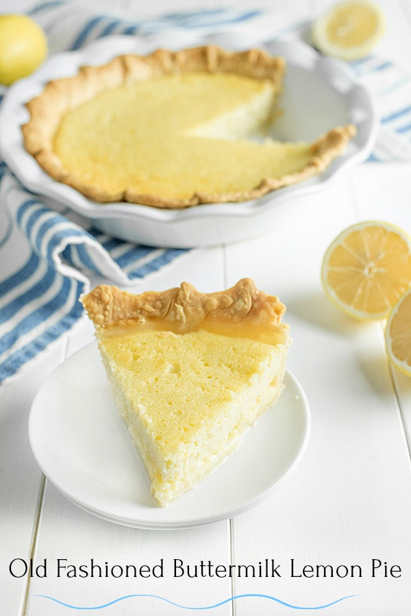 Old Fashioned Buttermilk Lemon Pie