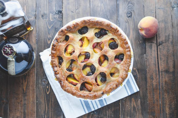Boozy Peach-Blackberry Pie