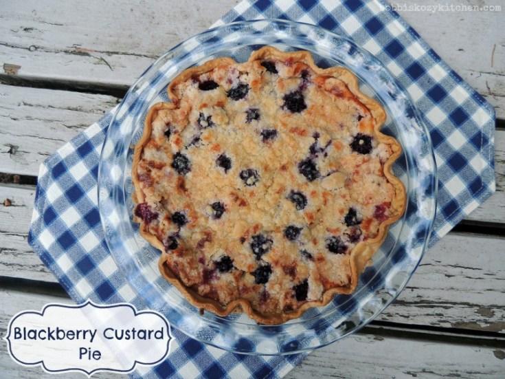 Blackberry Custard Pie