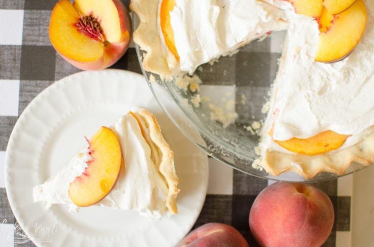 Peaches and Cream Pie {Quick and Easy}