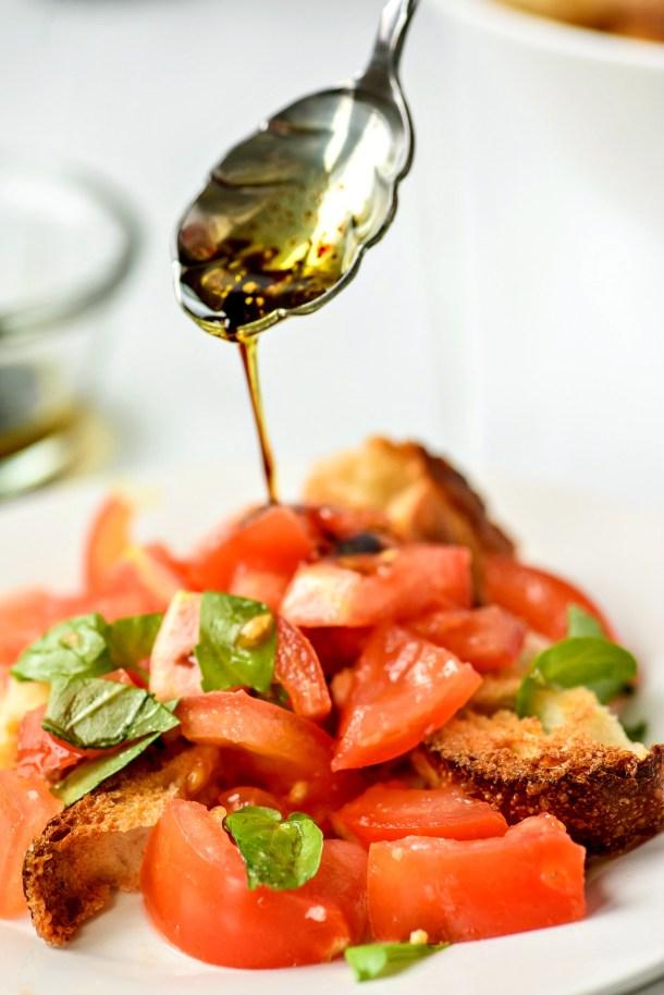 Panzanella Tomato Salad with Balsamic Vinaigrette