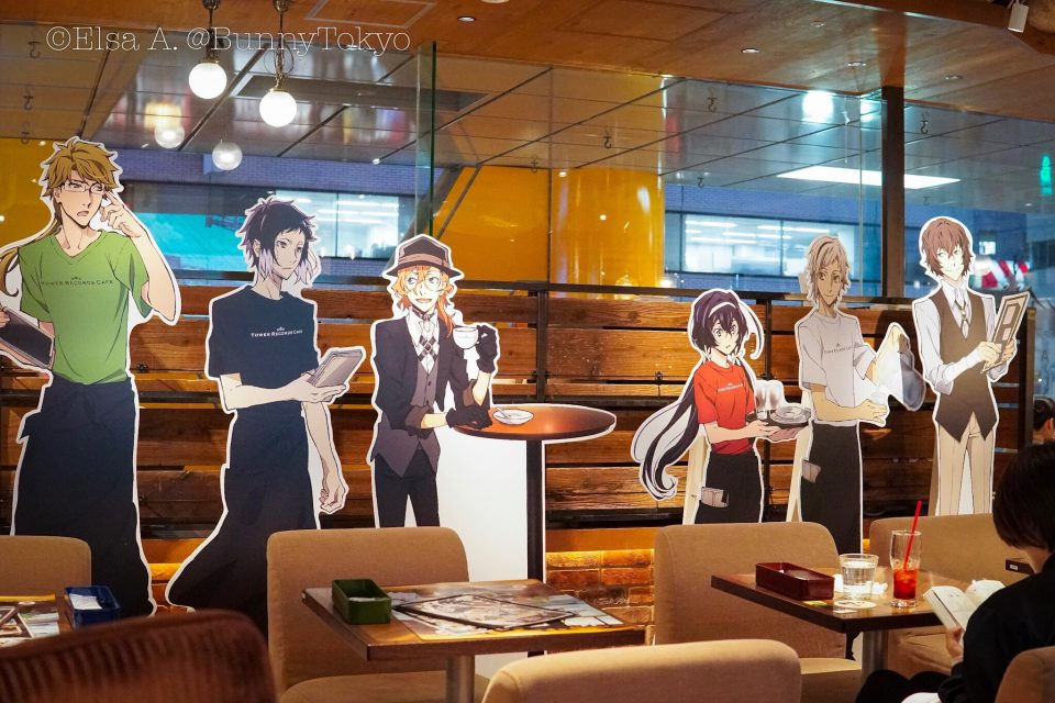 Bungo Stray Dogs collaboration cafe at Tower Records Shibuya