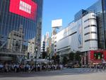 連休の渋谷駅前交差点