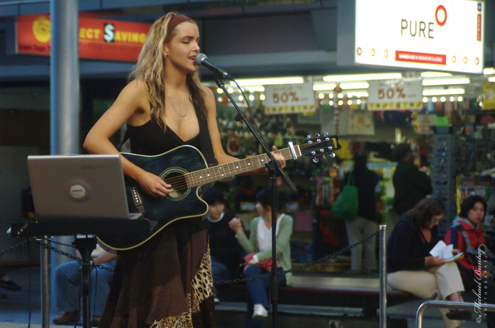 Guitarist, Queen Street Mall, CBD, Brisbane, Queensland
