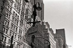 Tribeca Skyline, Manhattan, New York, New York. Ilford HP5+ BW negative 35mm film.