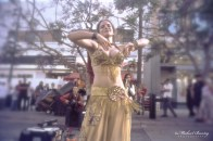 Gypsy Dancer, 3rd Third Street Promenade, Santa Monica, California. Kodak E200 35 mm color positive film.