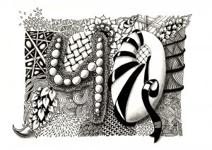 Zentangle inspired Art: 40. Geburtstag