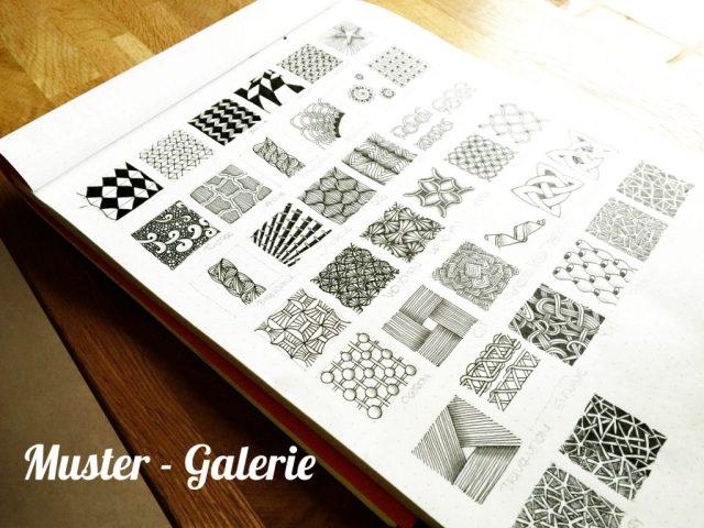 Muster Verzeichnis inspiriert von der Zentangle Methode