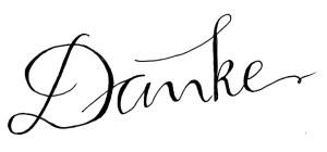 Danke - Handgeschrieben
