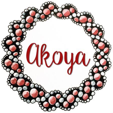 Kranz aus dem Zentangle Muster Akoya