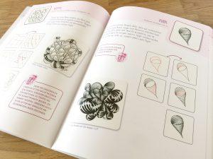 Die Auswahl an Mustern enthält Klassiker von den Erfindern der Zentangle® Methode ebenso wie von deutschen CZT wie hier: Rundl von Ela Rieger