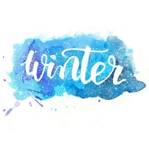 Winter - Aquarell (Watercolor) Hand Lettering