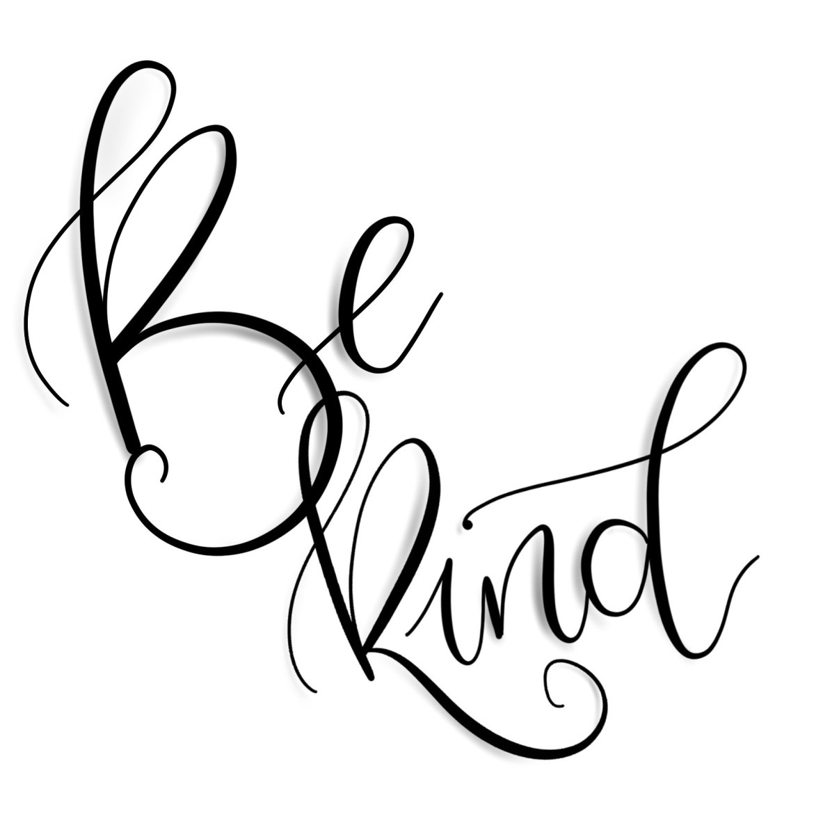 Be kind - Hand Lettering