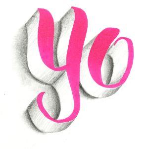 3D Lettering yo - Tutorial von Bunte Galerie