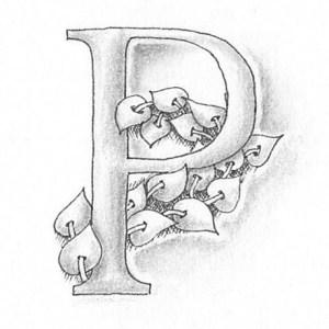 Tangle-Monogramm P - Ludmila Blum (Bunte Galerie)