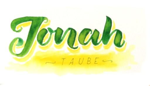 Jonah - Taube | Brushlettering - bunte Galerie