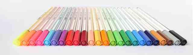 Alle Farben der Stabilo 68 Brushpens