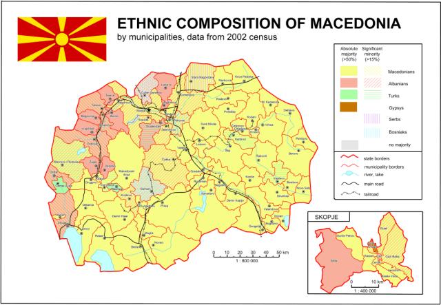 mappa etnica Macedonia