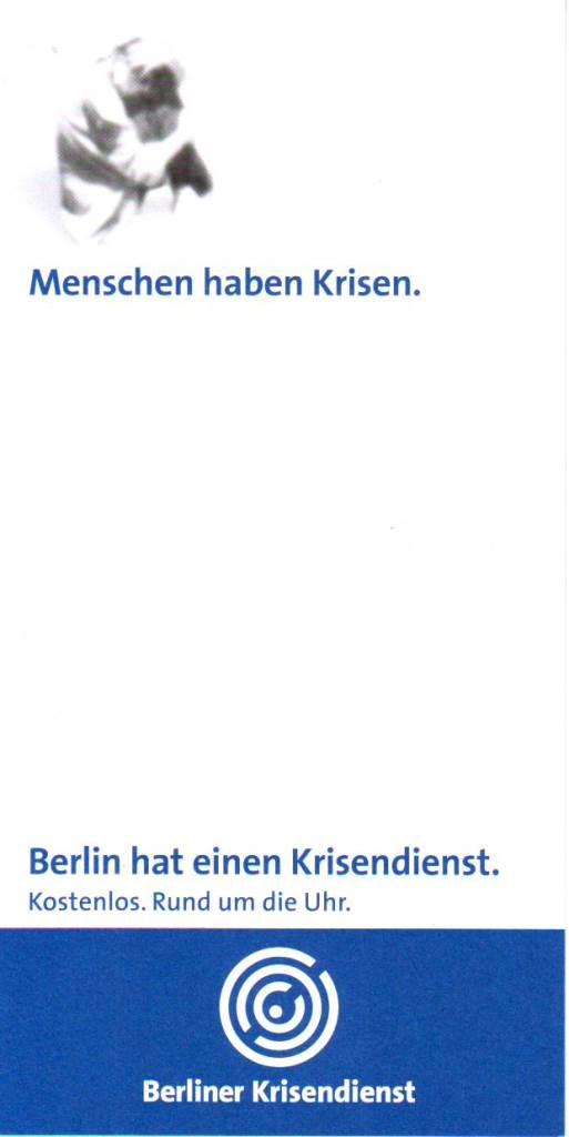 BS Info - Berliner-Krisendienst 20160226 ©Krisendienst