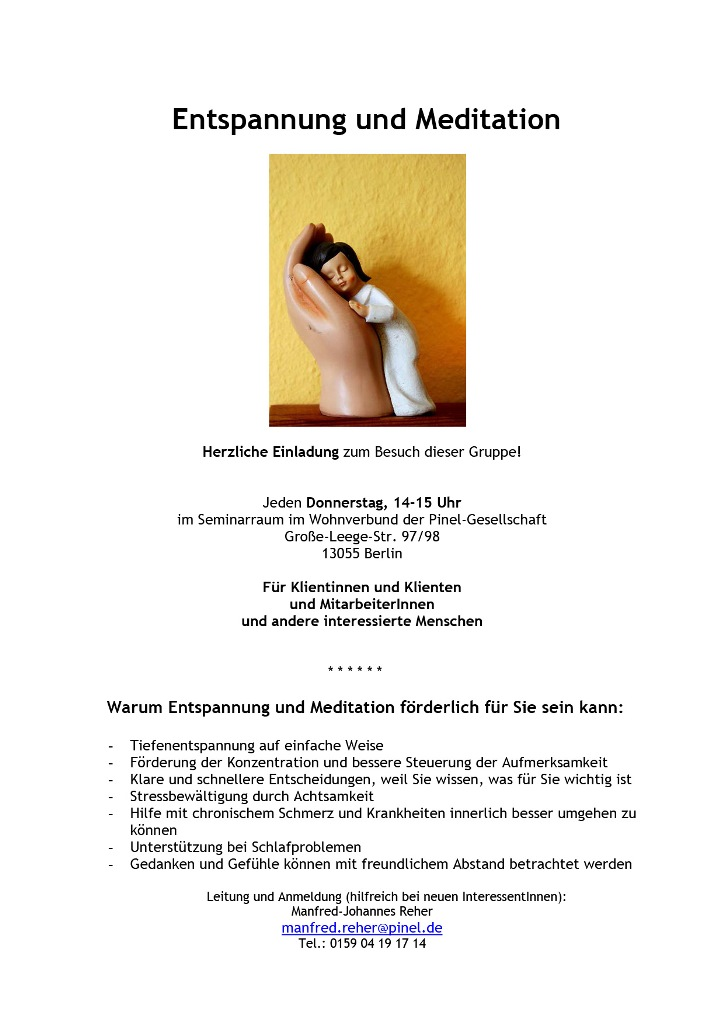 BS Info - Entspannung-und-Meditation 20160315 ©Pinel