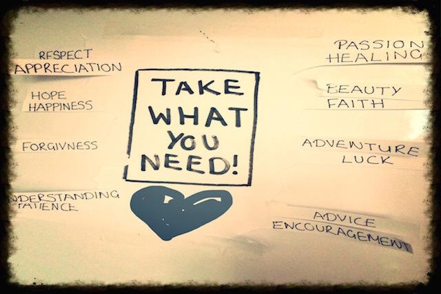 Take what you need * BUNTERwegs.com
