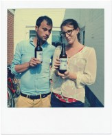 The lovely Katie and Luca (aka Salvo) enjoying some homebrew