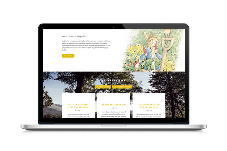 web design page for Beatrix Potter at Lingholm