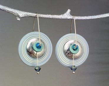Blue-Grey-Glass-Disk-Style-Earrings