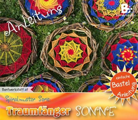 Anleitung: Traumfänger Sonne - Spiralmuster Serie // Buntwerkstatt.at