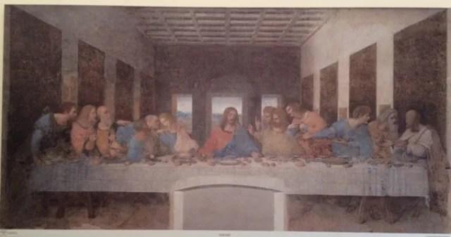 レオナルド・ダ・ヴィンチの『最後の晩餐』 1495-1497年 | 460×880cm | 油彩・テンペラ | サンタ・マリア・デレ・グラツィエ聖堂修道院食堂(ミラノ)