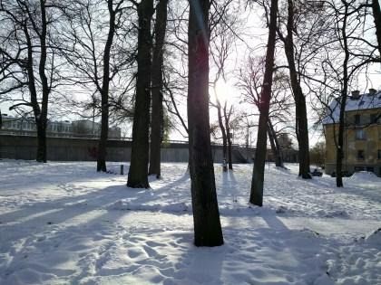 Lumi tuli maha... [Snow falls to the ground]