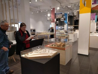 At the architecture museum (which is super cool for any modeling or design geek).
