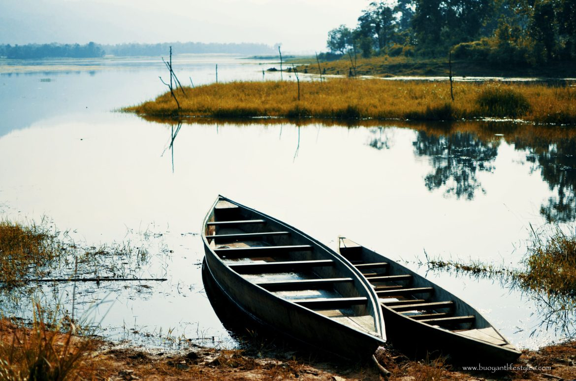 Boating on The Chandubi Lake, Assam India