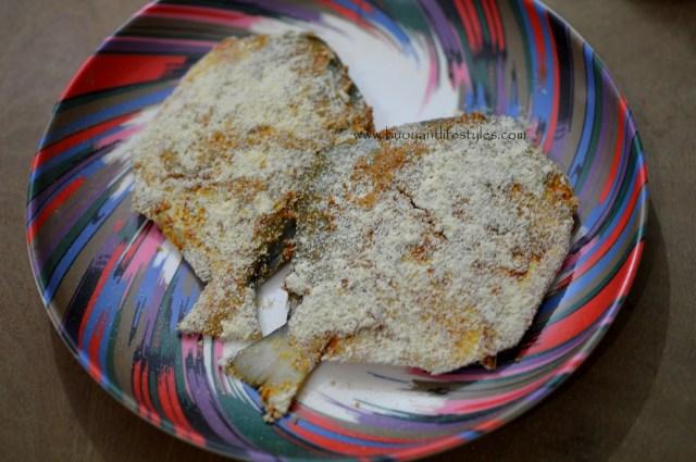 Crispy fried pomfret