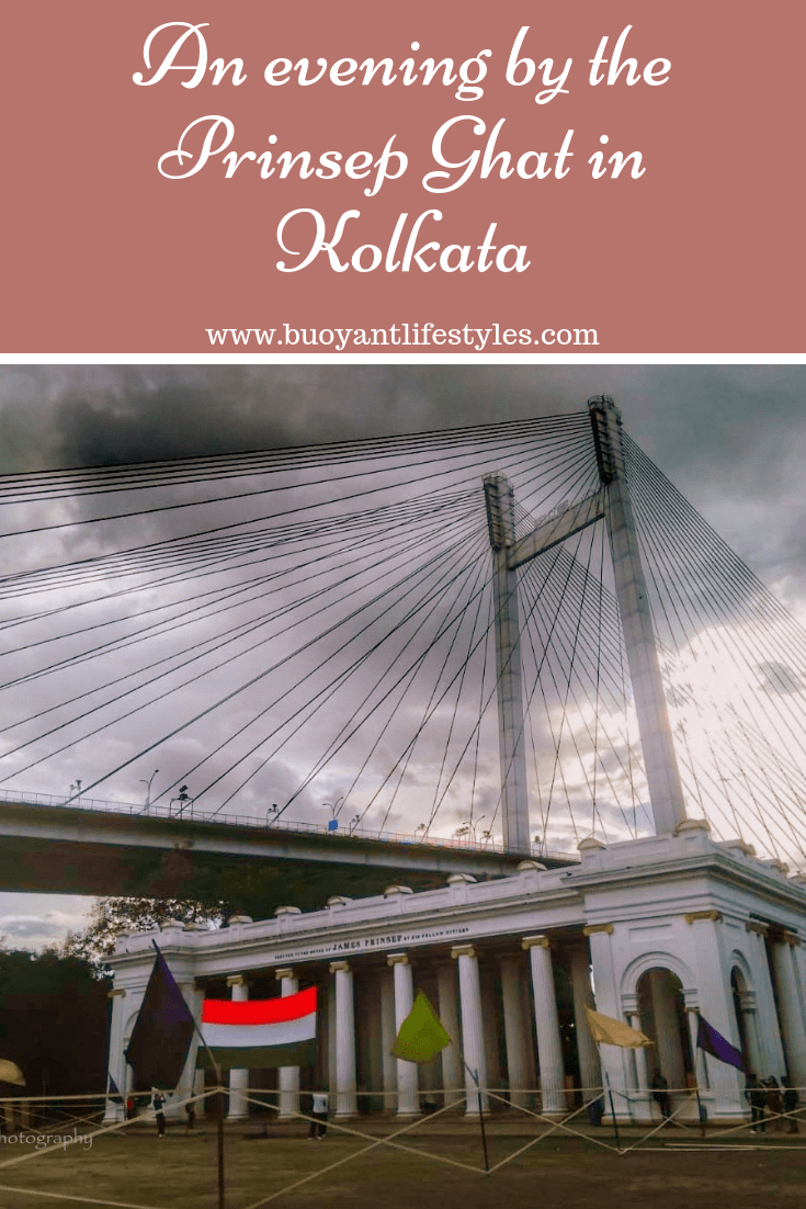 An evening by the Prinsep Ghat in Kolkata, India