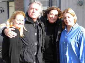 Professor Waller with Holly Collins, Jennifer Collins, and Barry Nolan