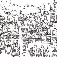 Disegno da colorare: la città storta