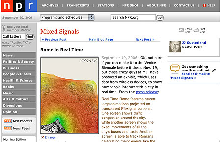 NPR Real Time Rome