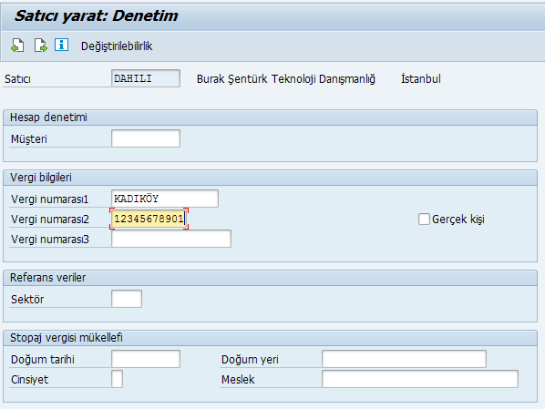 SAP FI Burak Şentürk