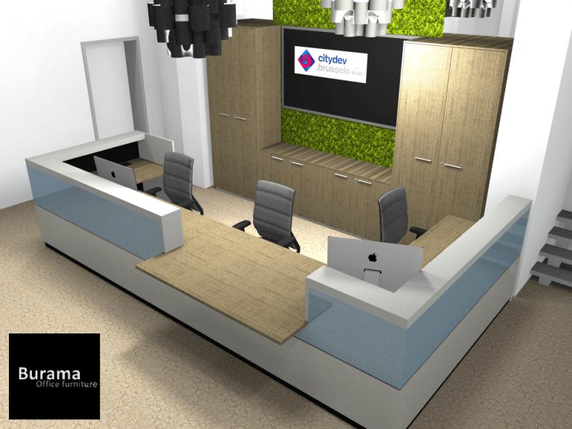 comptoir et banque d'accueil mobilier de bureau professionnel Burama