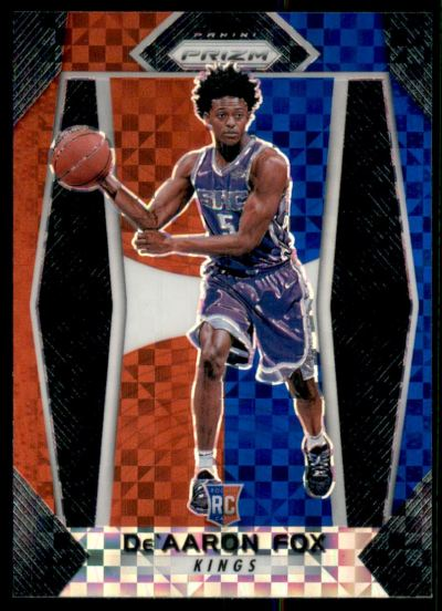 2017-18 Panini Prizm Prizms Red White and Blue #24 De'Aaron Fox RC
